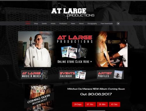 At Large Productions New Website